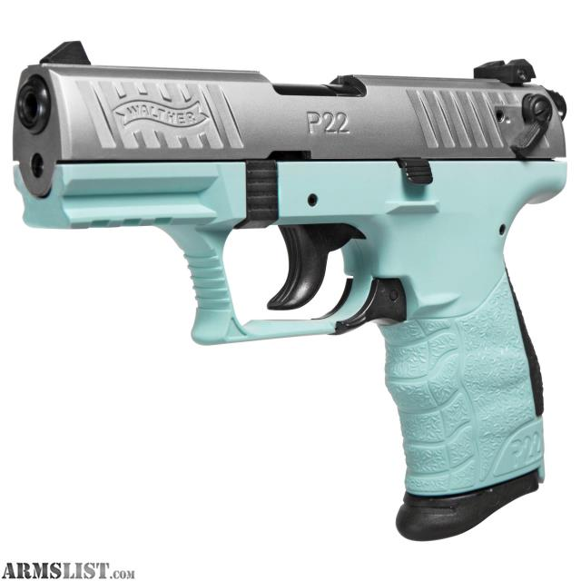 ARMSLIST - For Sale: Sold New Walther P22QD  22LR Angel blue