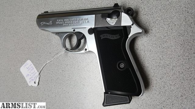 ARMSLIST - For Sale: WALTHER PPK/S 22LR NICKEL 10RD NIB