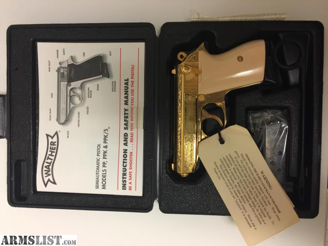 ARMSLIST - For Sale: Walther PPK  380 Gold Plated MI-6 Limited Edition