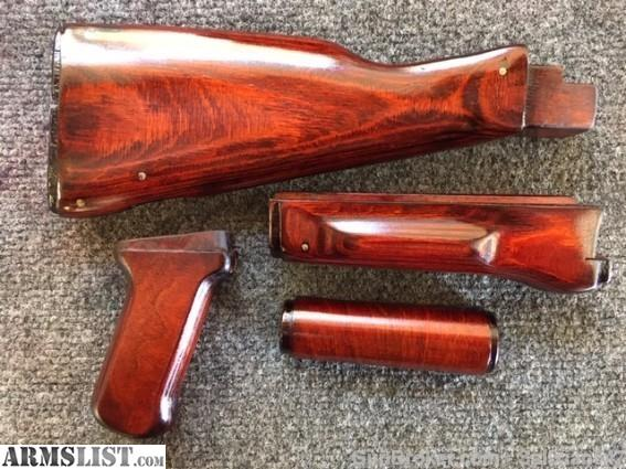 ARMSLIST - For Sale: Russian Bakelite Orange AK Wood Stock Set
