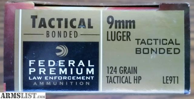ARMSLIST - For Sale: Federal Premium Hollow Point Tactical