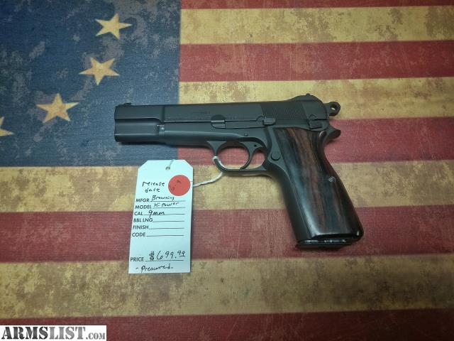Walmart No Credit Check Financing >> ARMSLIST - For Sale: Browning Hi Power No. 2 Mk1 9mm - Excellent