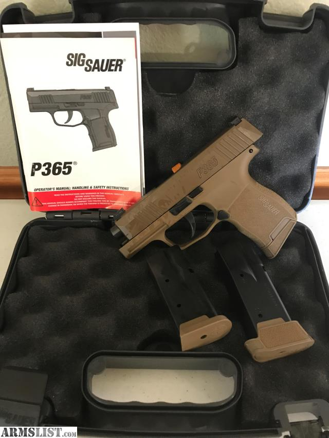 ARMSLIST - For Sale: Sig Sauer P365, Coyote, 9mm, Xray3