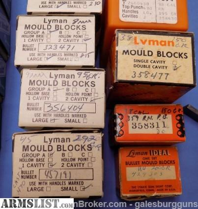 ARMSLIST - For Sale: Lots of NICE bullet moulds in original boxes