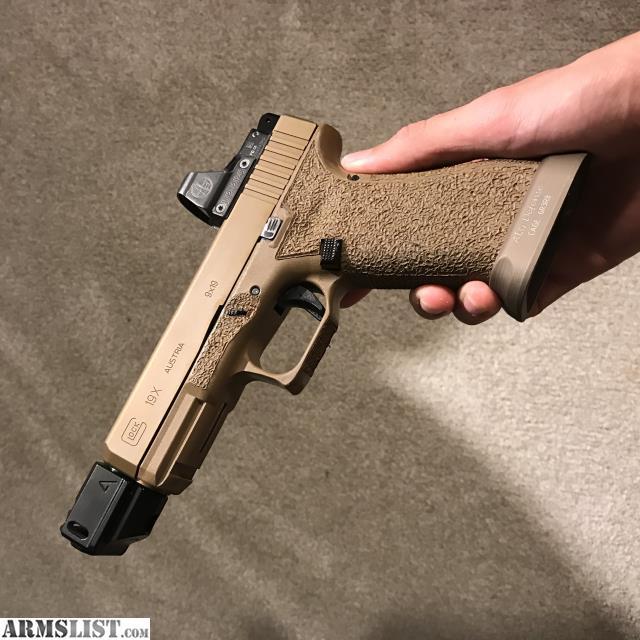 ARMSLIST - For Sale: Glock 19X custom w  Leupold DPP, ALG