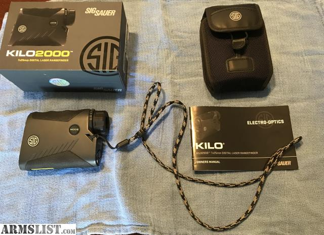 ARMSLIST - For Sale/Trade: Sig Sauer Kilo 2000 range finder