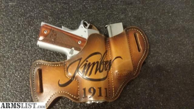ARMSLIST - For Sale: Kimber Ultra Carry II stainless with custom holster