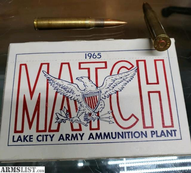 ARMSLIST - For Sale: Lake City M72 30-06 match grade ammo