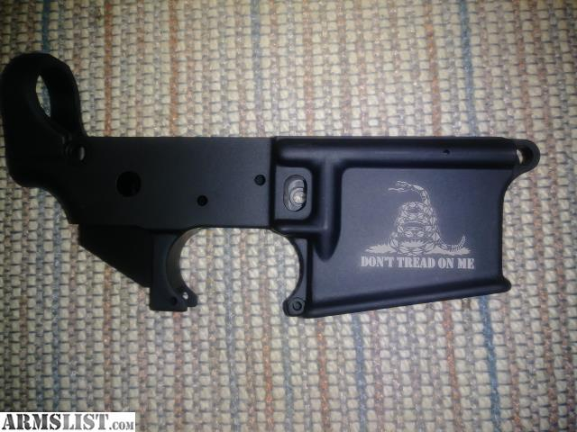 """For Sale: Anderson AR-15 Lower """"Don't Tread On Me"""""""