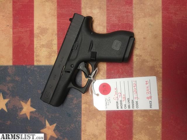 Walmart No Credit Check Financing >> ARMSLIST - For Sale: Glock G42 .380 ACP - Excellent