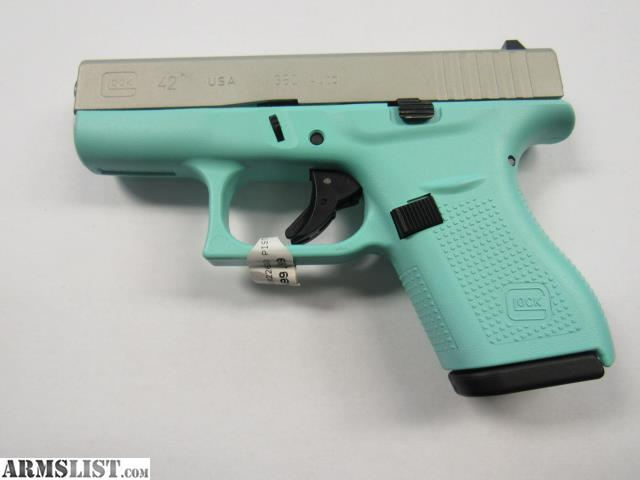 ARMSLIST - For Sale: Glock 42  380 Tiffany Blue, new in box