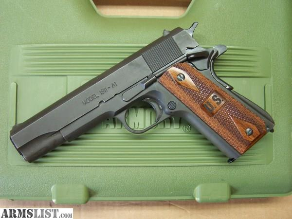 ARMSLIST - For Trade: Springfield Armory 1911a1 GI for hammer fired nine