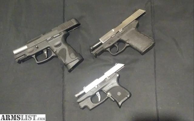 ARMSLIST - For Sale/Trade: 2 subcompact 9mm & 1 pocket  380