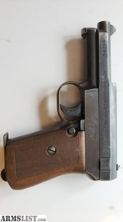 Oberndorf Mauser Serial Number