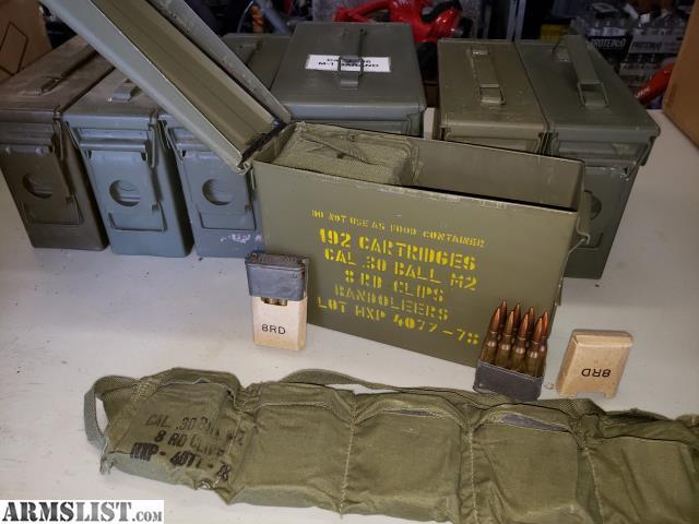 ARMSLIST - For Sale: 30-06 M1 Garand M2 30 cal NATO Ball Ammo