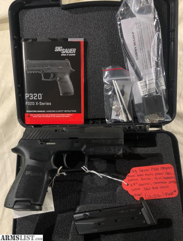 ARMSLIST - For Sale: Sig Sauer P320 Compact 9mm