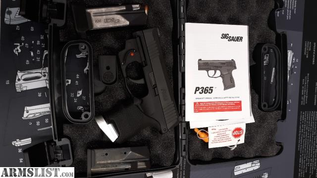 ARMSLIST - For Sale/Trade: Sig P365 with laser and extra 12