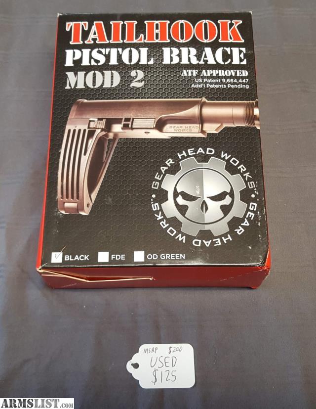 ARMSLIST - For Sale: Tailhook Pistol Brace Mod 2 Black Used