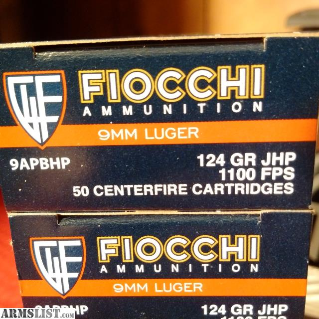 ARMSLIST - For Sale: 500 Rounds of Fiocchi 9mm JHP SubSonic