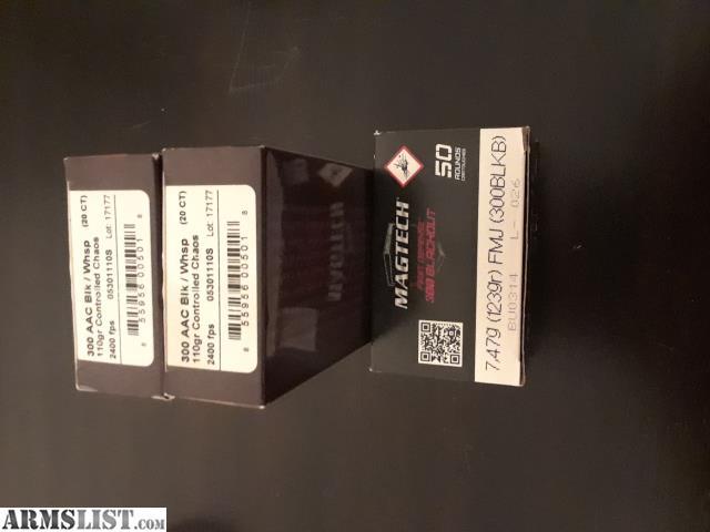 ARMSLIST - For Sale: 300 Blackout Fiocchi, Magtech, Lehigh Defense