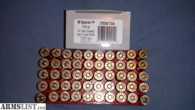 ARMSLIST - For Sale/Trade:  38special+P Self-Defense Ammo