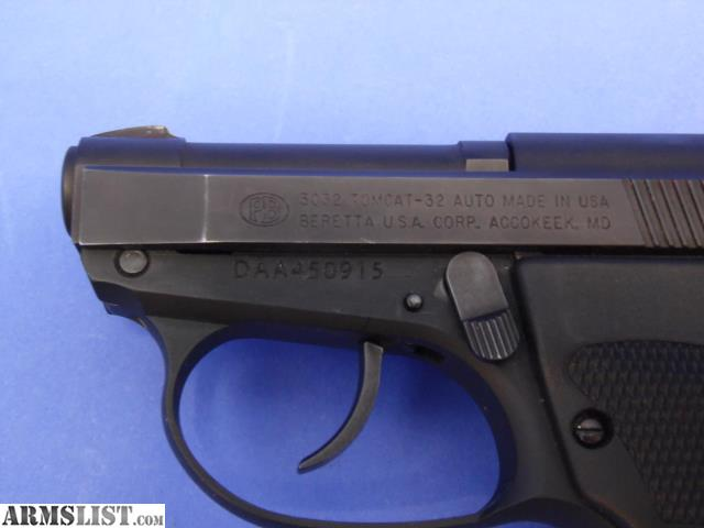 ARMSLIST - For Sale: BERETTA 3032 TOMCAT  30 AUTO WITH RED LASER