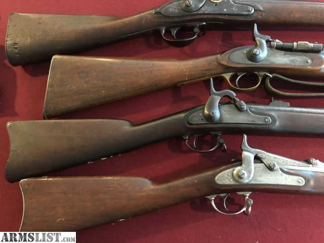 ARMSLIST - For Sale: 4 Civil War Rifles all original