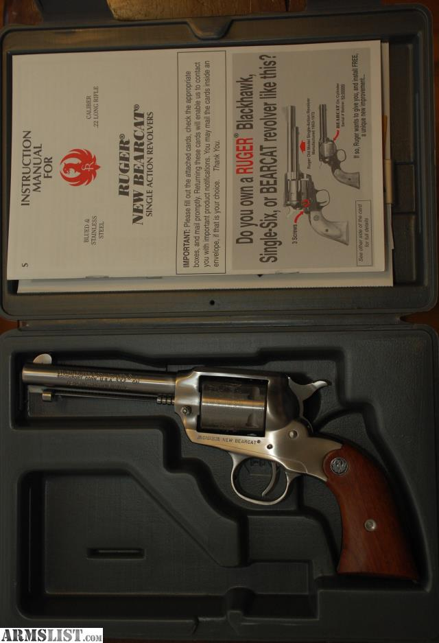 ARMSLIST - For Sale: Ruger Bearcat Stainless 22 revolver