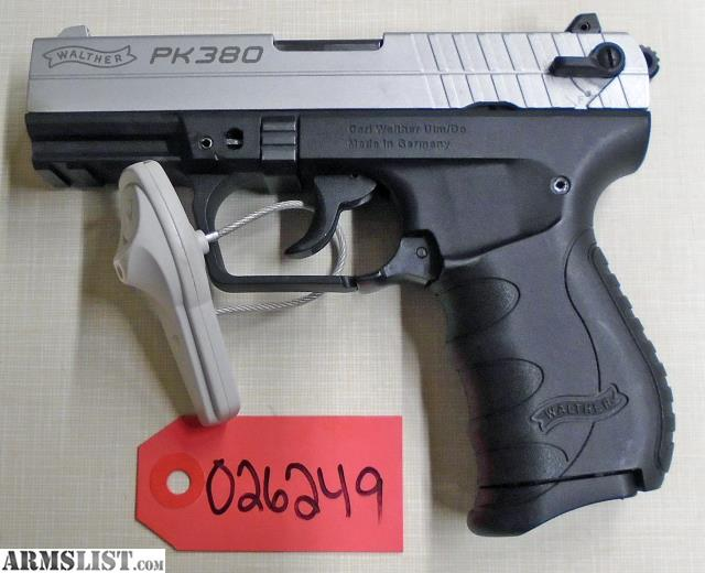 ARMSLIST - For Sale: WALTHER PK380 380 #026249