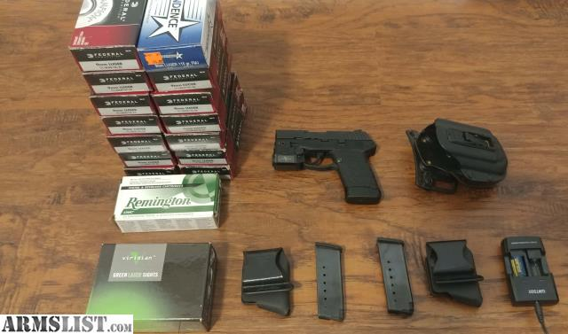 ARMSLIST - For Sale: Kel-Tec PF-9 with green laser/light