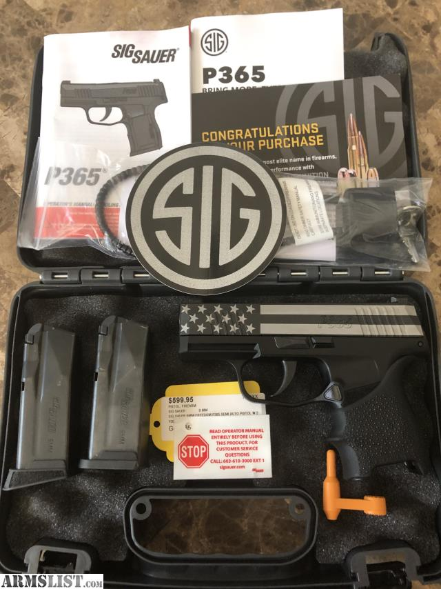 ARMSLIST - For Sale: Sig Sauer P365 FREEDOM EDITION 9MM