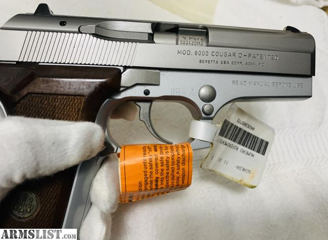 ARMSLIST - For Sale: Beretta 8000D DAO (rare factory Inox