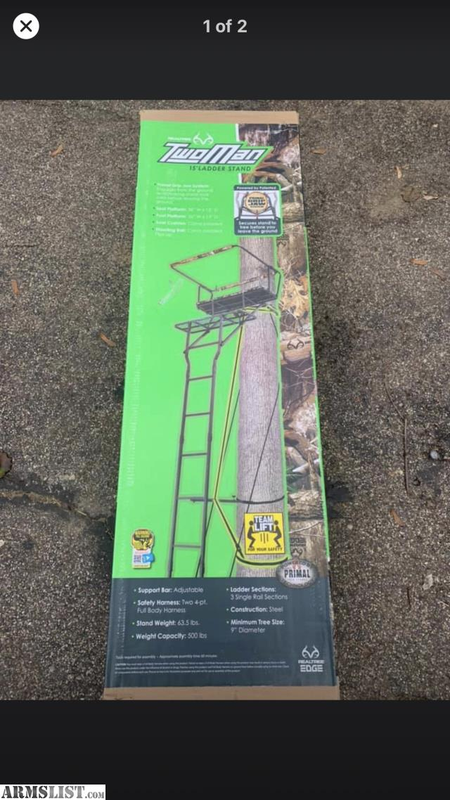 Armslist For Sale Realtree Two Man Ladder Stands