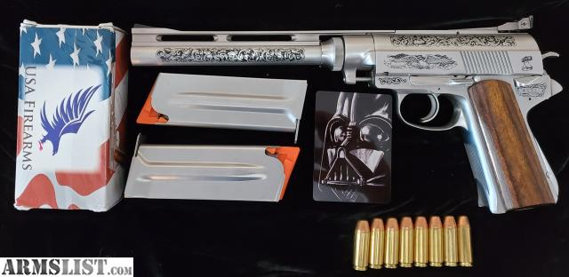 Armslist For Sale Wildey S Here And He Is Dressed For Success Rare Presentation Grade 475 Wildey Magnum Survivor Featuring Blackened Engraving And High Grade Wood Grips