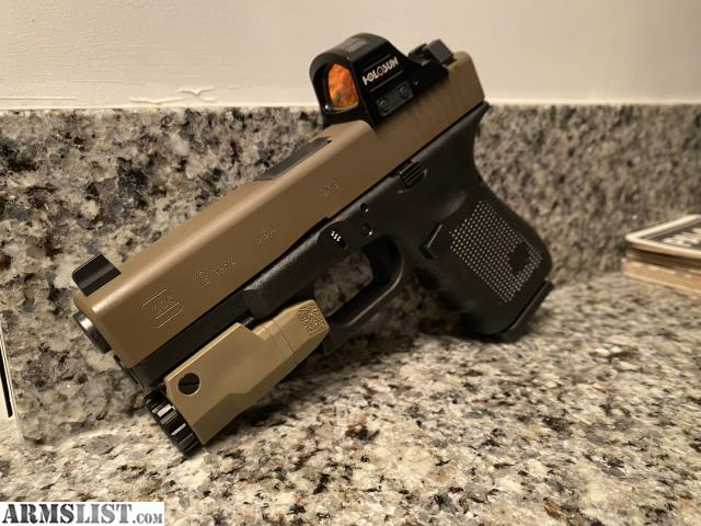 ARMSLIST - For Sale: Glock 19 Gen 4 w/ Holosun Red Dot and ...