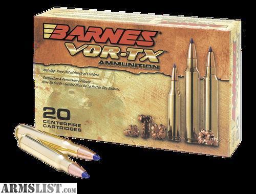 ARMSLIST - For Sale: Barnes Bullets -21548 VOR-TX Rifle ...