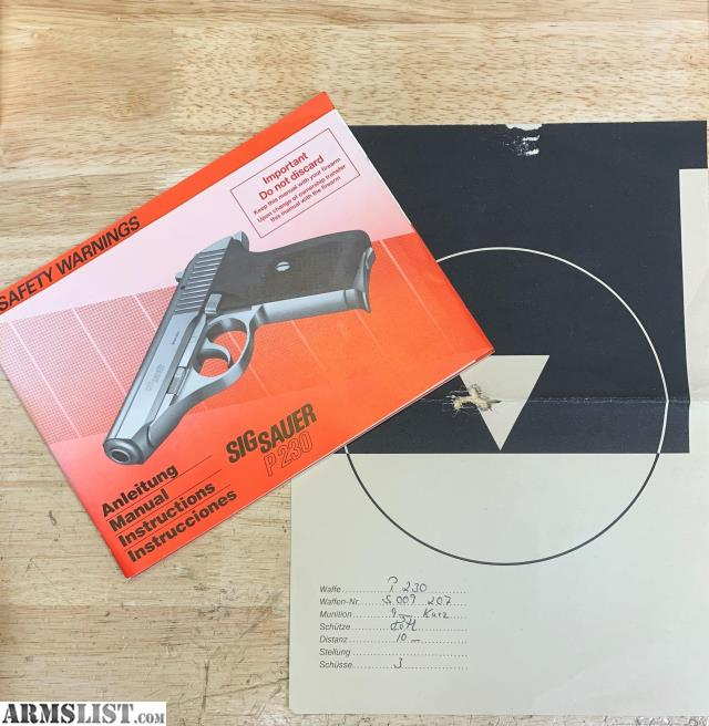 Sig Sauer P230 Sl Owners Manual