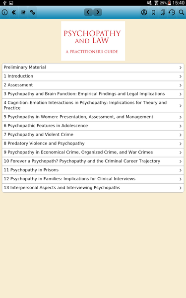 psychopathy and law a practitioners guide