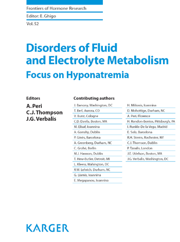 Disorders of Fluid and Electrolyte Metabolism