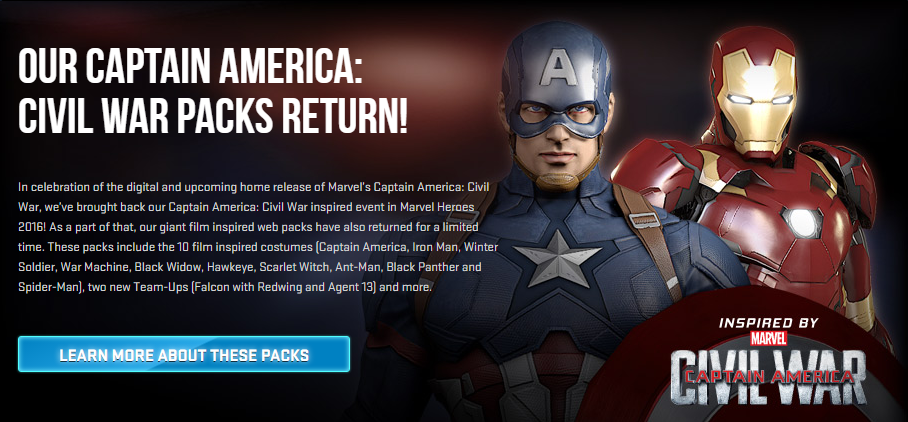 CIVIL WAR Packs Return!