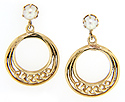 These lovely 14K yellow gold estate earrings are set on posts