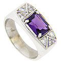 Rich purple hues define this vintage amethyst ring