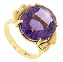 The light-catching facets on this shimmering round amethyst are stunning
