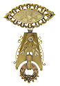 This wonderful 14K tri-colored gold Victorian antique brooch measures 1.8