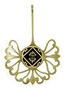 An antique brass and champlevé enamel button is seamlessly integrated into this one-of-a-kind brass pendant