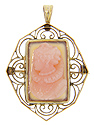 This lovely Victorian sardonyx cameo is set in a 14K yellow gold hand made frame