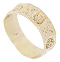 This antique 14K yellow gold child's band measures 4.6mm in width