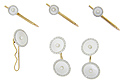 This amazing antique stud set is crafted of 14K yellow gold