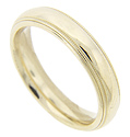 This 14K yellow gold estate wedding band is a study in simplicity