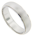 A smooth matte finish gives this 14K white gold antique style men's wedding band a simple but stylish look